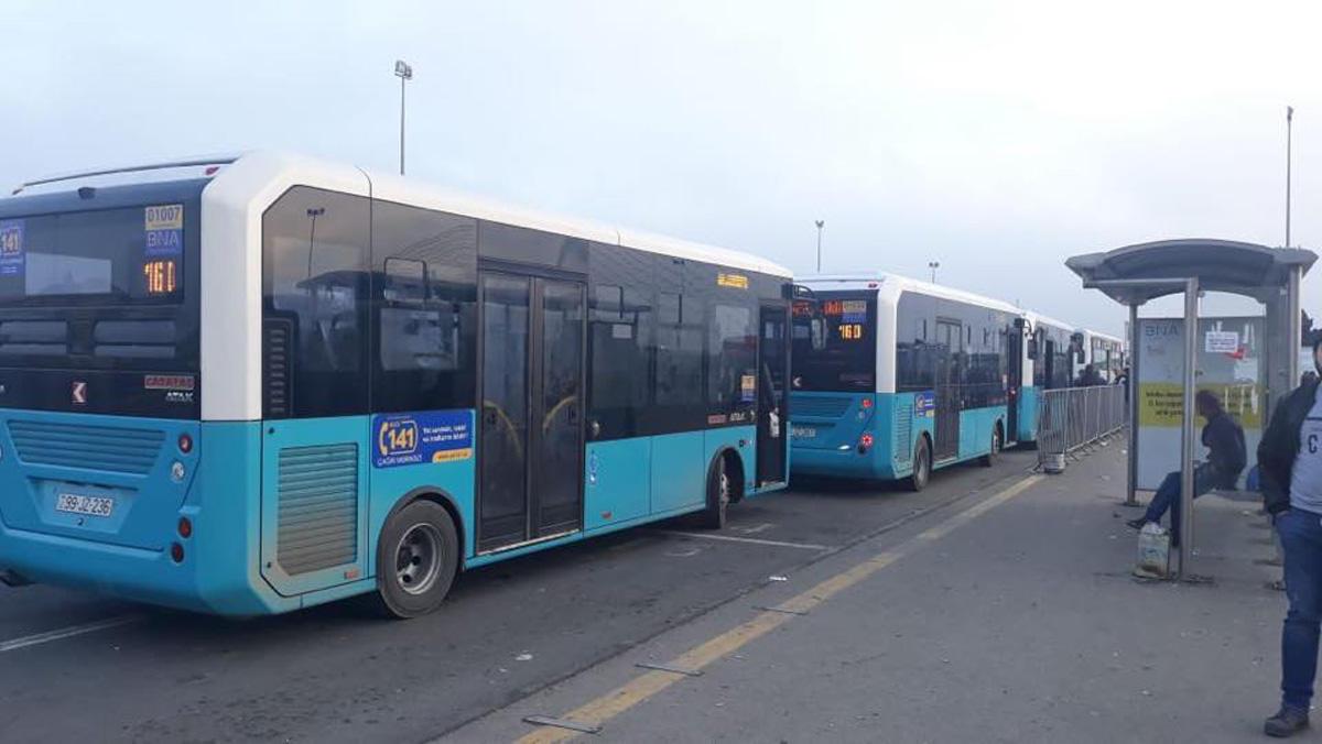 Yeni gətirilən avtobuslar xəttə buraxıldı - FOTO