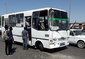 Daha bir avtobus qəzası GƏNCƏDƏ - Yaralılar var