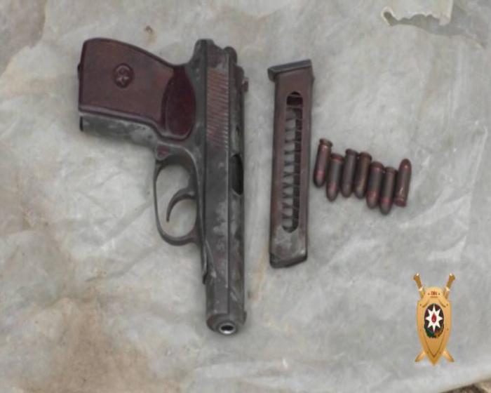 Nardaranda əməliyyat - Torpağa basdırılmış silah tapıldı